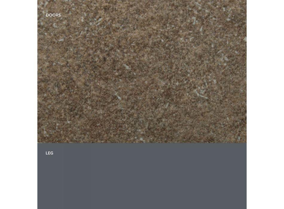 Aparador com Portas em Efeito Pedra Laminada HPL Fabricado na Itália - Fiorenza