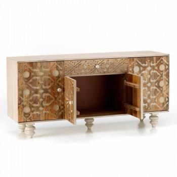 Buffet de design étnico de madeira pintada com manga, Centola