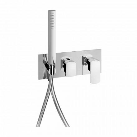 Misturador de chuveiro embutido de design moderno em latão made in Italy - Sika
