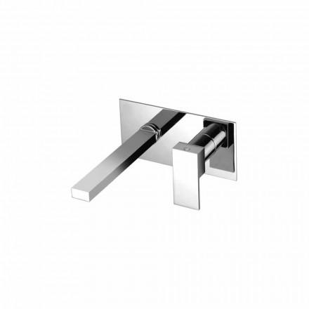 Misturador de lavatório de parede para banheiro de placa única Made in Italy - Panela