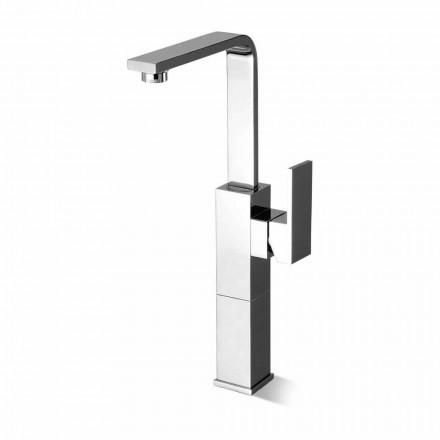 Misturador para pia de banheiro de design com bico alto giratório Made in Italy - Panela