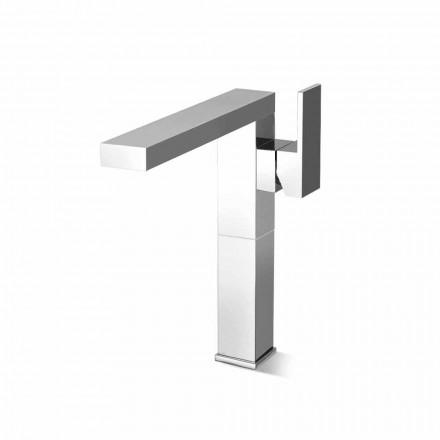 Misturador para lavatório de bico longo para banheiro em latão Made in Italy - Panela