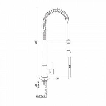 Misturador para pia de cozinha de latão ajustável com mola Made in Italy - Keope