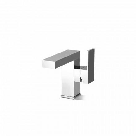 Misturador para lavatório lateral sem ralo em latão Made in Italy - Panela