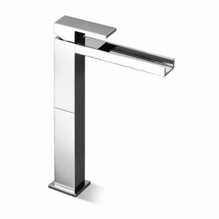 Misturador moderno para lavatório de bico longo sem dreno feito na Itália - Bibo