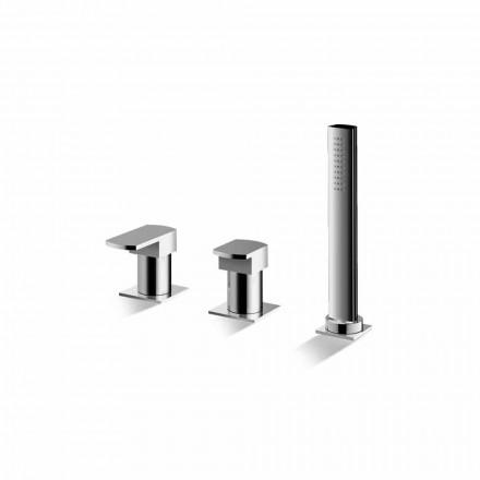 Misturador para banheira cromado com 3 furos Made in Italy - Sika