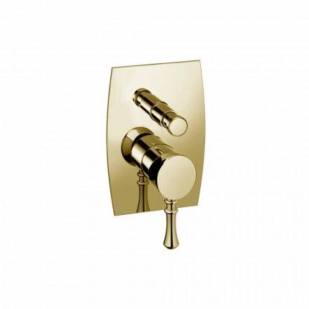 Misturador para banheira ou chuveiro de bronze de design Made in Italy - Neno