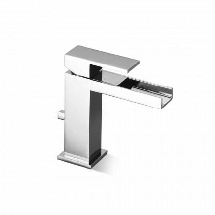 Misturador para pia de banheiro com ralo de latão Fabricado na Itália - Bibo