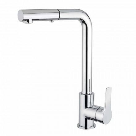 Misturador para lavatório com chuveiro de mão de 2 jatos em latão Made in Italy - Croma