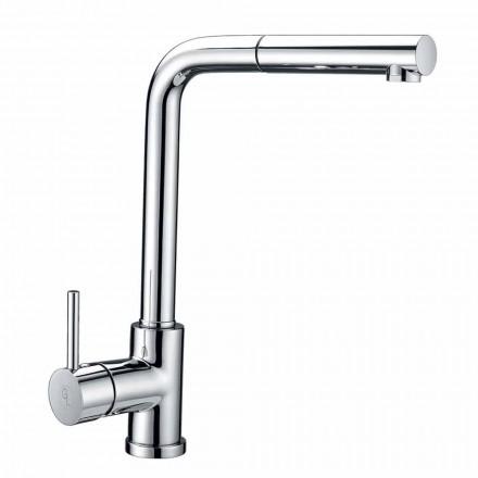 Misturador de lavatório em latão com chuveiro de mão em ABS Made in Italy - Kalid