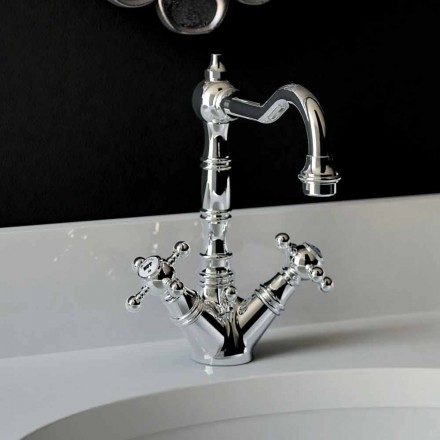 Misturador monocomando para lavatório em latão cromado Made in Italy - Binsu