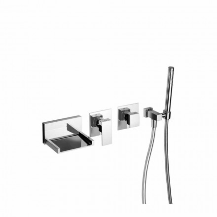 Misturador para banheira embutido com kit de chuveiro Made in Italy - Bibo