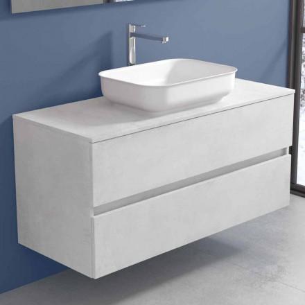 Móveis de banheiro suspensos com lavatório de design em 4 acabamentos - Paoletto