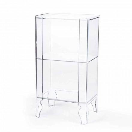 Armário de arrumação design moderno Simon feito de metacrilato transparente