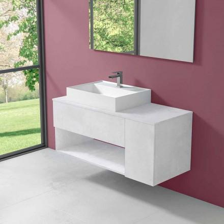 Gabinete de banheiro suspenso de design com lavatório de bancada em estilo moderno - Pistillo