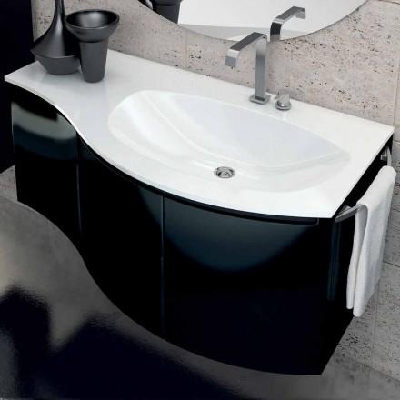 Vaidade do banheiro moderna Gioia com 3 portas de madeira, fabricada na Itália
