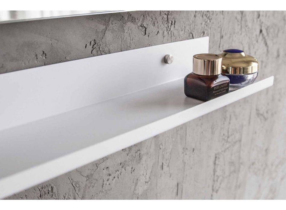 Armário de banheiro suspenso moderno com pia e espelho de design - Michele