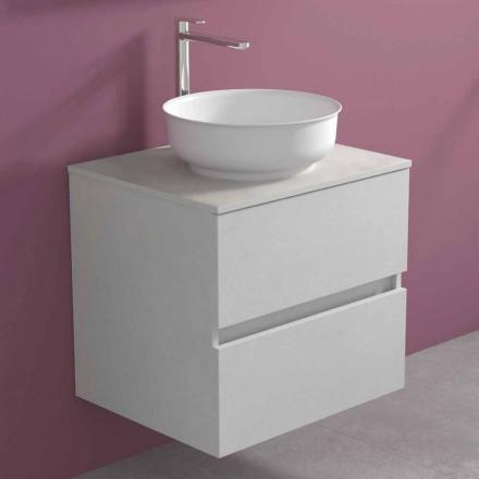 Gabinete de banheiro suspenso com lavatório redondo de bancada, design moderno - Dumbo