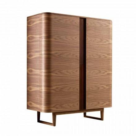 Armário de design em madeira maciça com 2 portas Grilli York made in Italy
