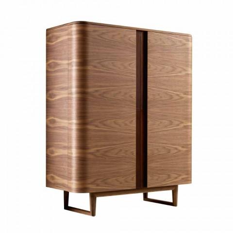 Armário de design em madeira maciça 2A Grilli York made in Italy