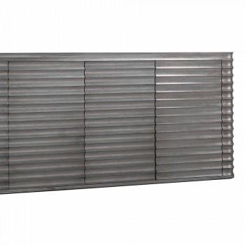 Armário com 4 portas em madeira moldada, L230xP49 cm, Dana