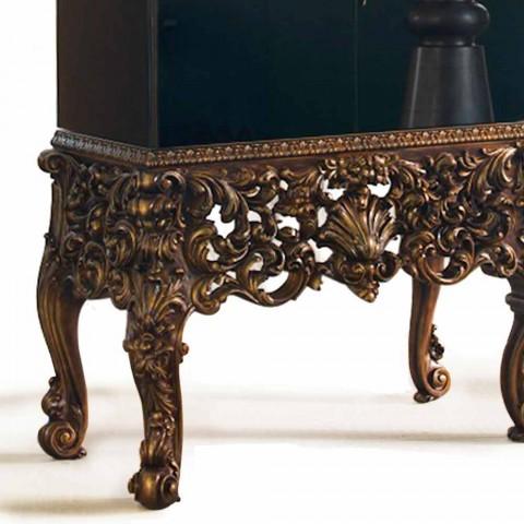 Móveis com design de luxo base madeira esculpida, feitos na Itália, Sam