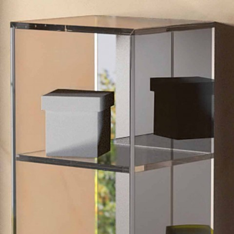 Gabinete de contêiner 3 compartimentos design moderno, L180xH900 mm, Adelia