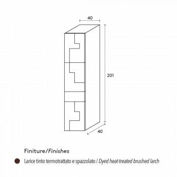 Azaléia escovado lariço armário de coluna de madeira