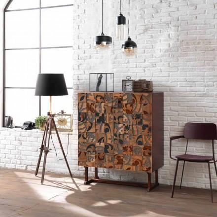 Móveis de armazenamento de design com duas portas em madeira de manga Cellara