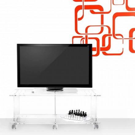 Carrinho de TV de design moderno feito de acrílico transparente Mago