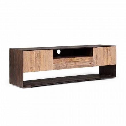 Suporte de TV Homemotion em madeira de manga e madeira folheada - Amilcare