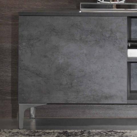 Armário de TV moderno em madeira de melamina com duas portas fabricadas na Itália - Clemente
