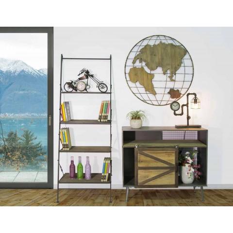 Armário de madeira e metal estilo industrial de design moderno - Denes