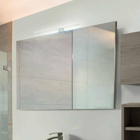 Mobília do banheiro suspensa em melamina cinza carvalho - Becky
