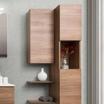 Móveis de banheiro com design suspenso em Melamine Walnut - Becky