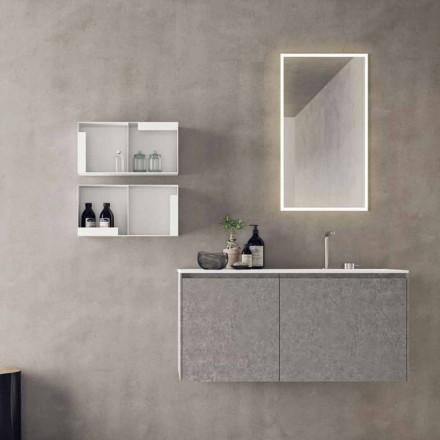 Móveis suspensos de design, composição de banheiro moderna - Callisi9