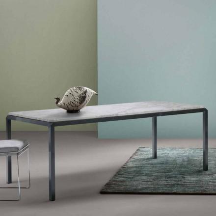 Mesa de jantar Bebop by My Home com tampo de mármore precioso, fabricado na Itália
