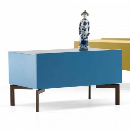Sally mesa de cabeceira MDF com pernas de aço por My Home, design moderno