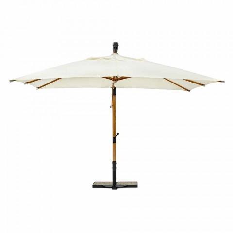 Guarda-chuva Ecrù Color em Poliéster e Madeira 3x4 Homemotion - Passmore