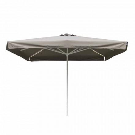 Guarda-chuva de tecido ao ar livre com estrutura metálica feito na Itália - Solero