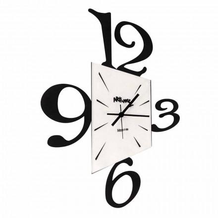 Relógio de parede design em ferro preto ou alumínio fabricado na Itália - Prospi