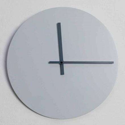 Relógio de parede redondo de design moderno cinza e azul fabricado na Itália - Umbriel