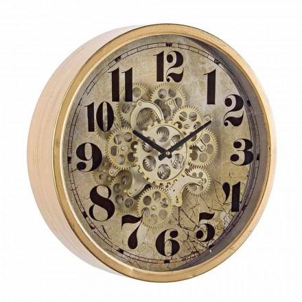 Relógio de Parede Redondo Diâmetro 46,5 cm em Aço e Vidro Homemotion - Rando