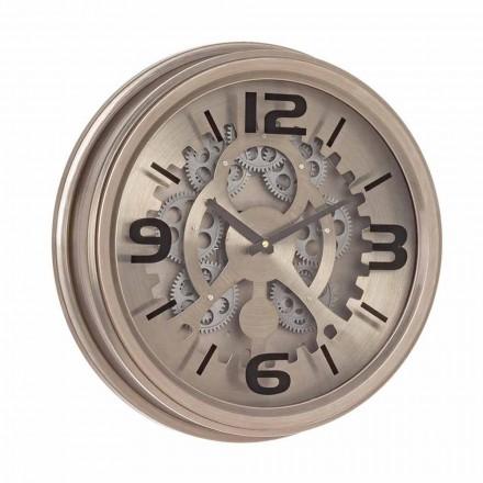 Relógio de Parede Estilo Clássico em Aço e Mdf Homemotion - Crude