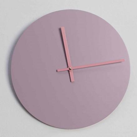Relógio de parede redondo de madeira fabricado em Itália - Imalia