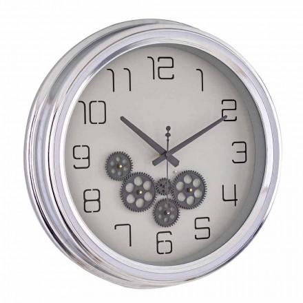 Relógio de parede de design vintage com estrutura de aço Homemotion - Gimbo