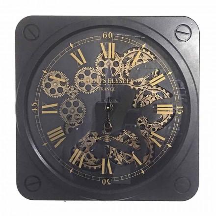 Relógio de Parede Design Vintage em Aço Quadrado Homemotion - Curzio