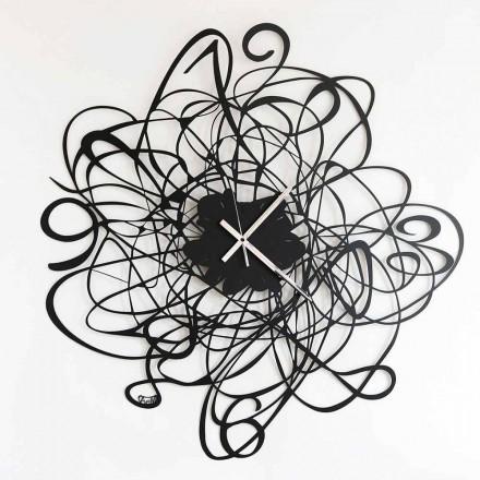 Relógio de parede design moderno em ferro preto ou branco fabricado na Itália - Baldo