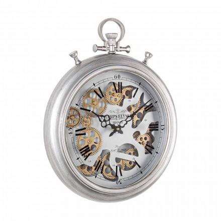 Relógio de Parede em Aço e Vidro Design Vintage Homemotion - Gringo