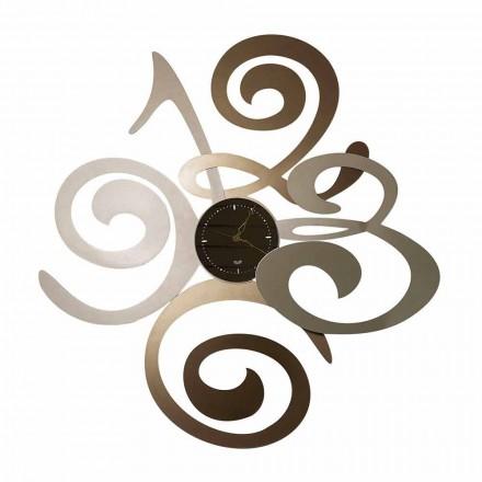 Relógio de parede com design moderno em ferro fabricado na Itália - Centáurea